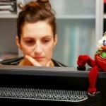 Ozdoby świąteczne na komputer biurowy